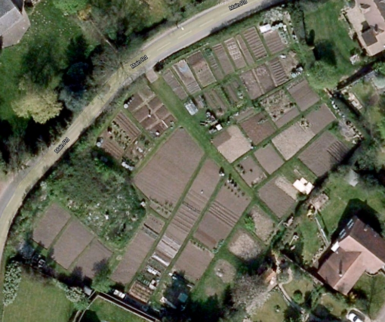 Satellite view of Drayton Parslow Allotments